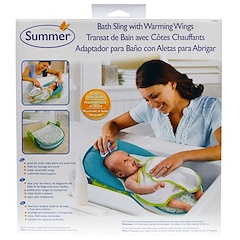 Summer Infant, Bath Sling with Warming Wings, 1 Set