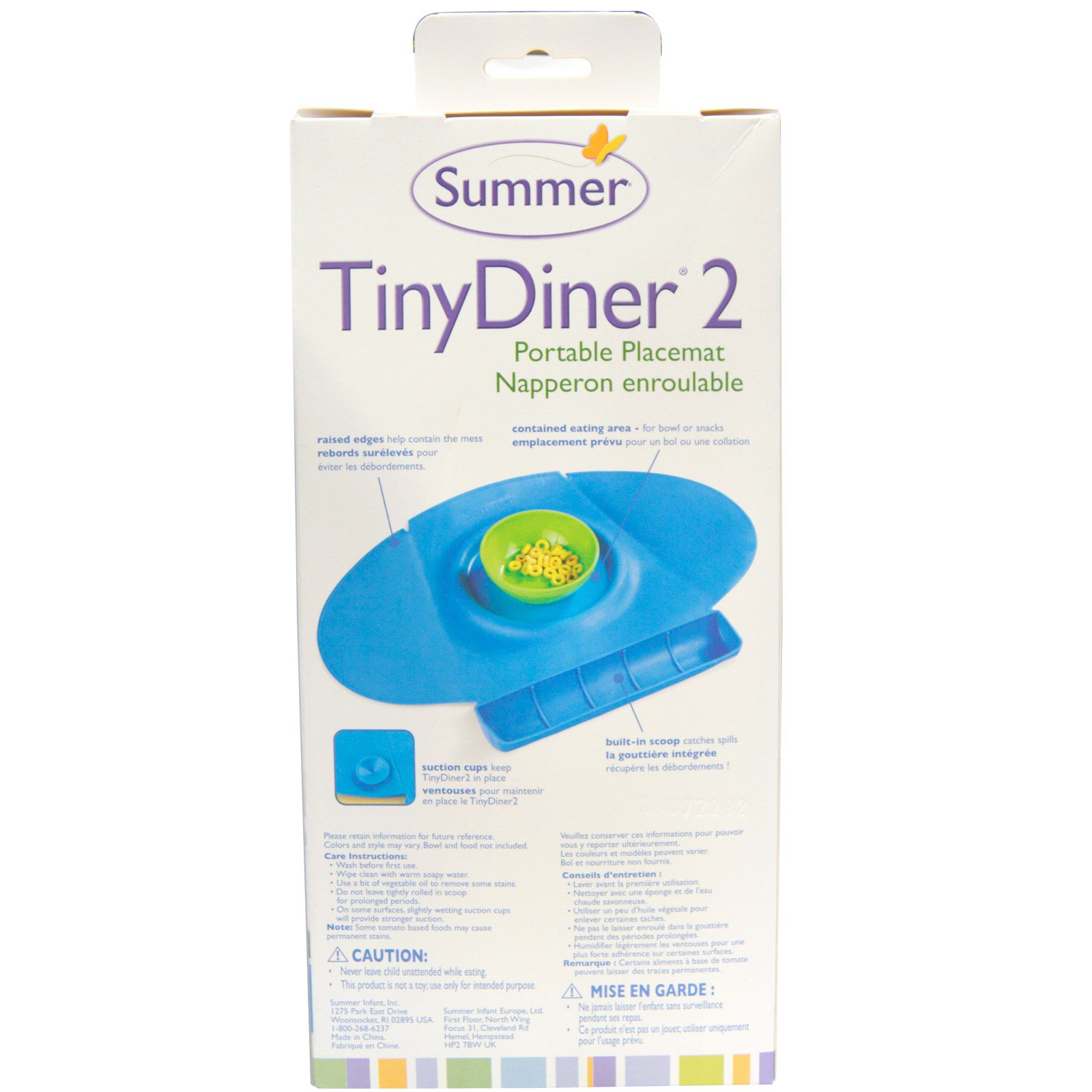 Summer Infant Tiny Diner 2 Blue Portable Placemat 1 Babyganics Toy Ampamp Highchair Cleaner Fragrance Free 502ml 108045 Click To Zoom