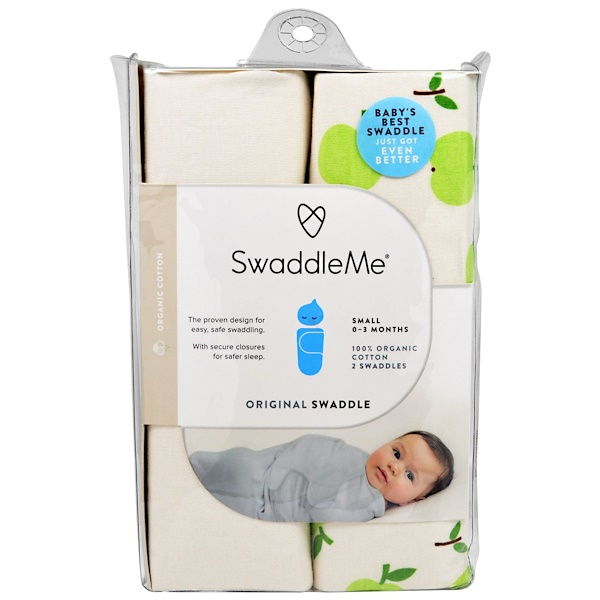 Summer Infant, Swaddle Me, Original Swaddle, Small, 0-3 Months, 2 Swaddles (Discontinued Item)