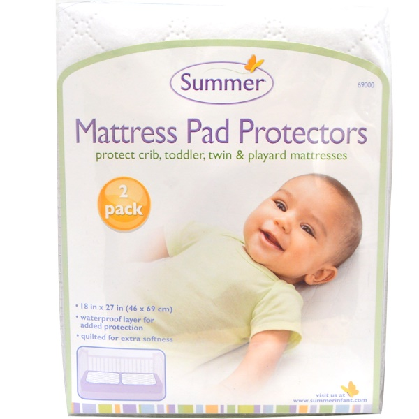 Summer Infant, Mattress Pad Protectors, 2 Pack (Discontinued Item)
