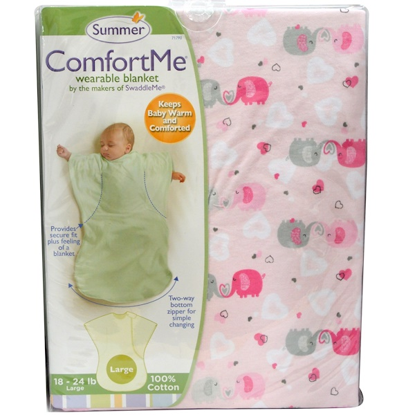 Summer Infant, ComfortMe Wearable Blanket, 18-24 lb, Large (Discontinued Item)