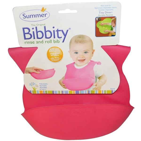 Summer Infant, Bibbity, Rinse and Roll Bib, 6 Mos+, 1 Bib (Discontinued Item)