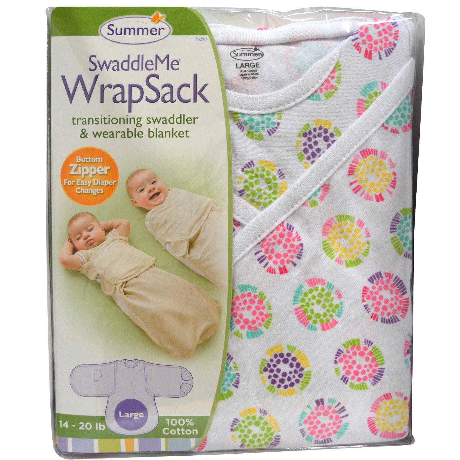Summer Infant Swaddleme Wrapsack 14 20 Lb Large Iherb