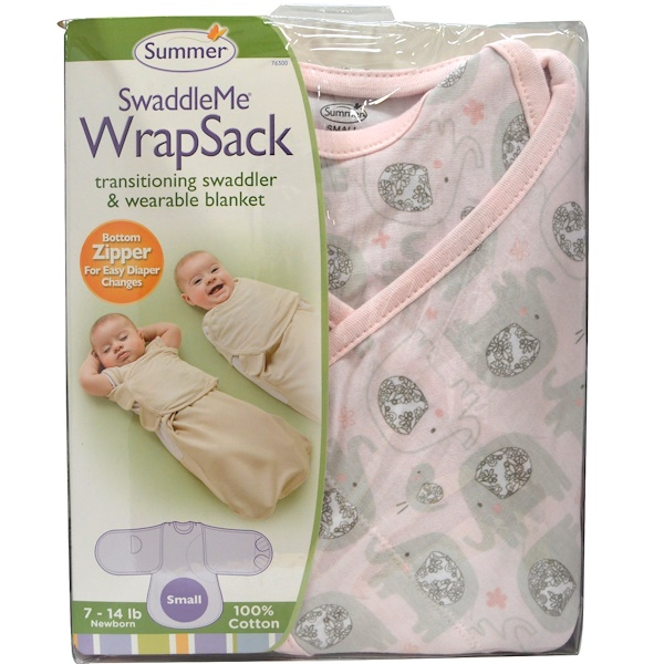 Summer Infant, SwaddleMe WrapSack, Small, 7-14 lb, Newborn (Discontinued Item)
