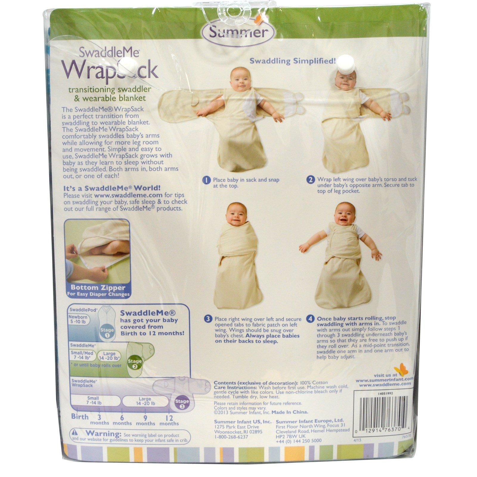 Summer Infant Swaddleme Wrapsack Small 7 14 Lb Newborn Iherb