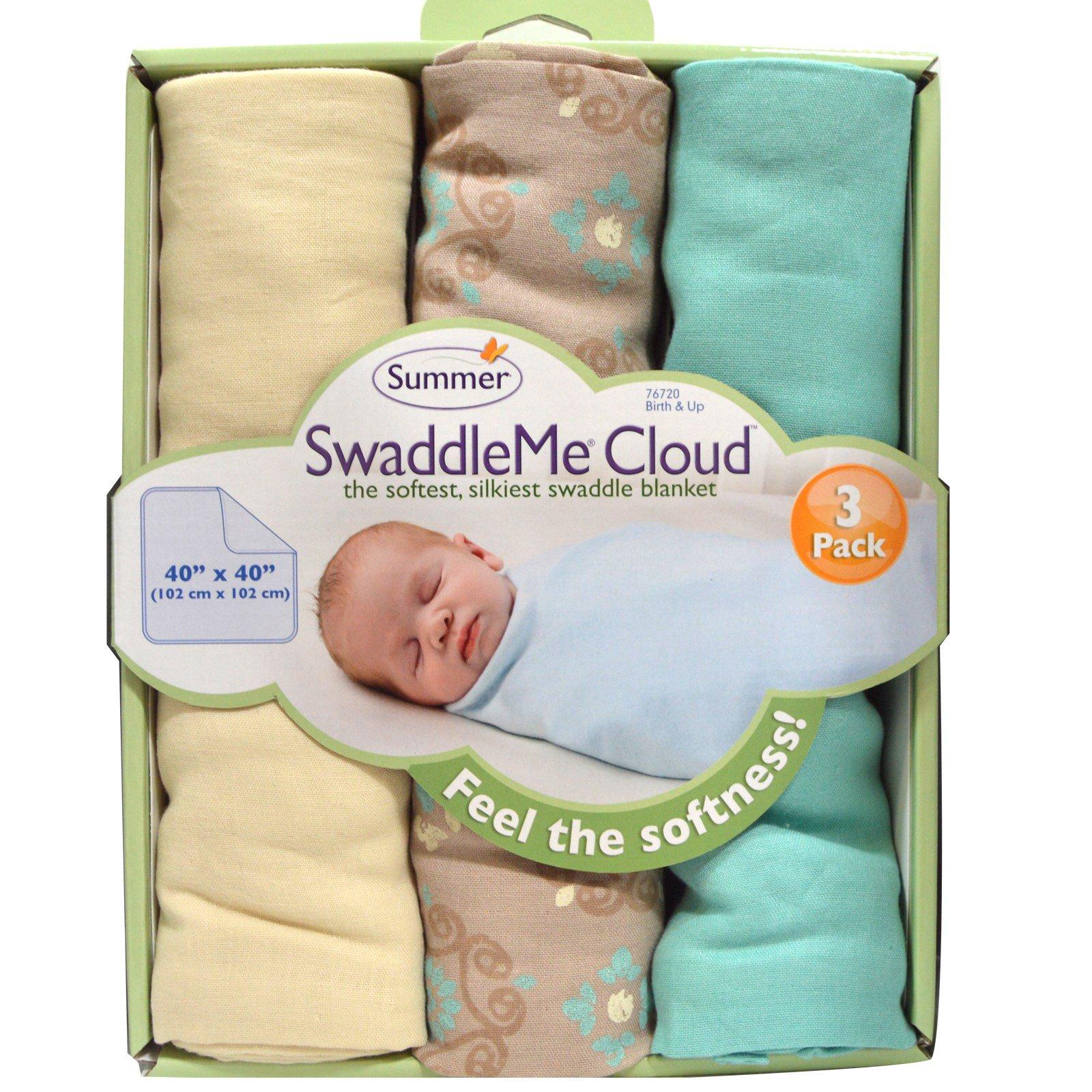 Summer Infant Swaddleme Cloud Blankets 3 Pack Iherb
