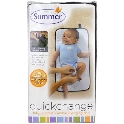 Summer Infant 快速更換,完全填充便攜式尿布墊,1 片