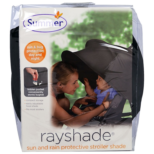 Summer Infant, Rayshade, Sun and Rain Protective Stroller Shade, 1 Piece (Discontinued Item)