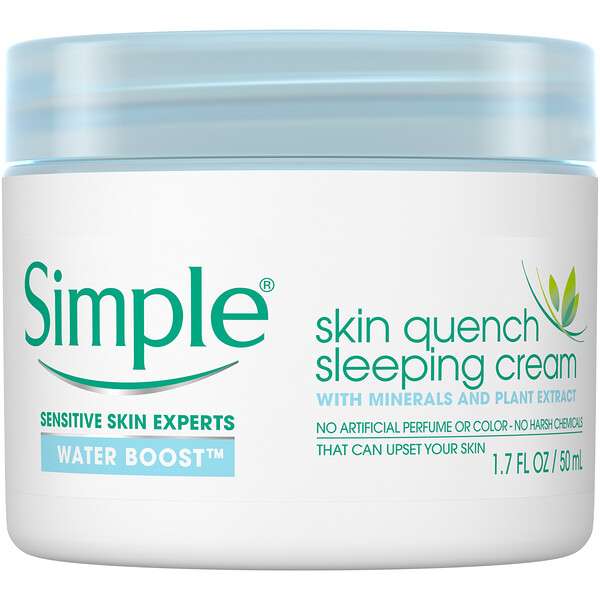Simple Skincare, Skin Quench Sleeping Cream, 1.7 fl oz (50 ml) (Discontinued Item)