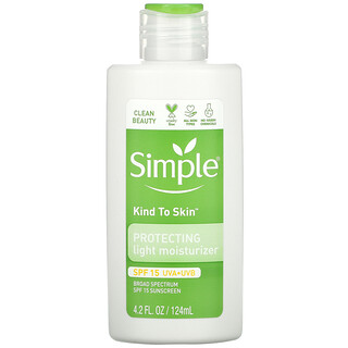 Simple Skincare, Kind to Skin, Protecting Light Moisturizer, SPF 15, 4.2 fl oz (124 ml)