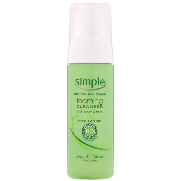 Simple Skincare, Foaming Cleanser, 5 fl oz (148 ml)