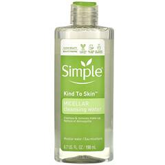 Simple Skincare, 膠束潔膚水,6.7 液量盎司(198 毫升)