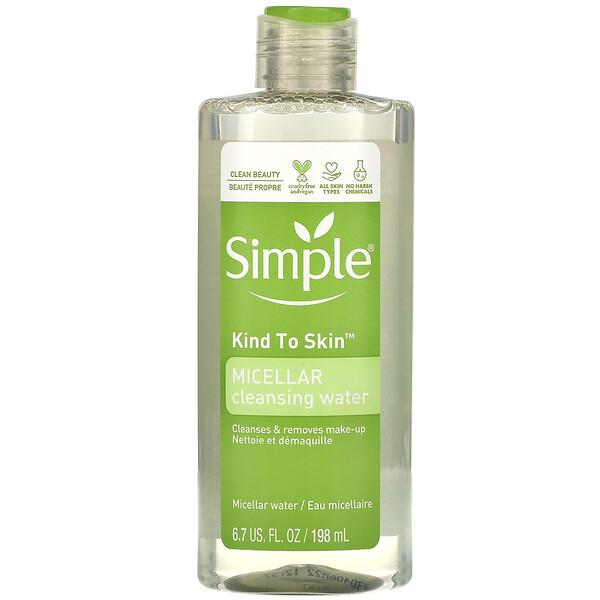 Simple Skincare, Eau micellaire nettoyante, 198ml