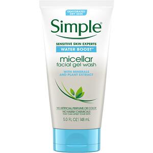 Симпл Скинкер, Micellar Facial Gel Wash, 5 fl oz (148 ml) отзывы