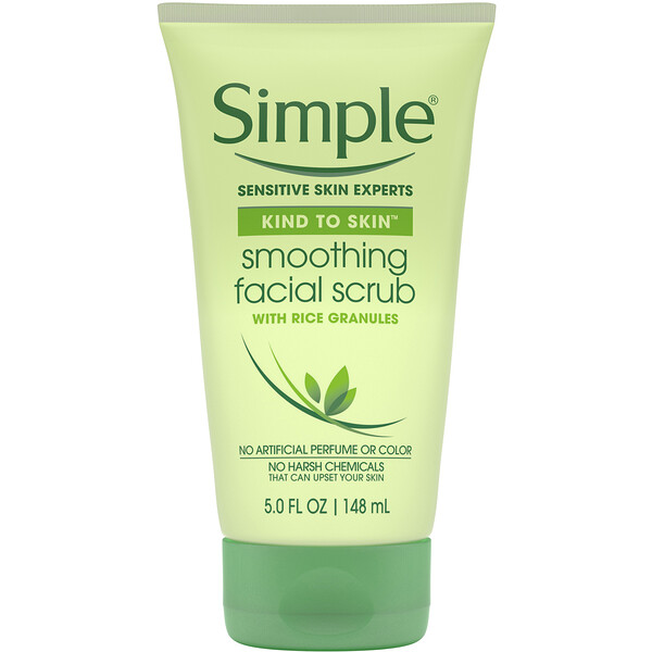 Simple Skincare, Smoothing Facial Scrub, 5 fl oz (148 ml) (Discontinued Item)