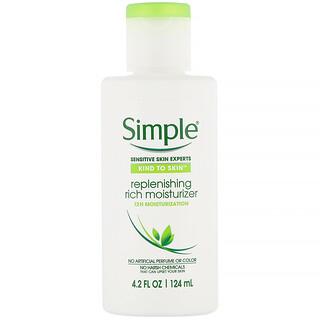 Simple Skincare, 補充保濕乳,4.2 液量盎司(124 毫升)