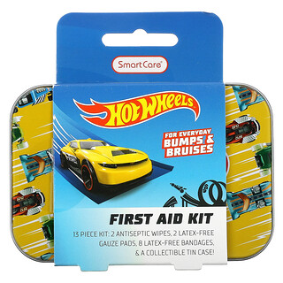 Smart Care, First Aid Kit, Hot Wheels, 13 Piece Kit