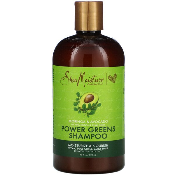 Power Greens Shampoo, Moringa & Avocado, 13 fl oz (384 ml)