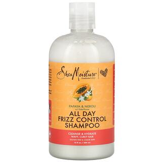 SheaMoisture, шампунь против пушения волос в течение всего дня, папайя, нероли и цветки бузины, 384мл (13жидк.унций)