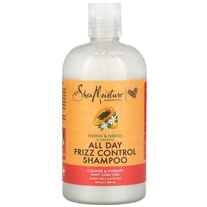SheaMoisture, All Day Frizz Control Shampoo, Papaya & Neroli with Elderflower, 13 fl oz (384 ml)