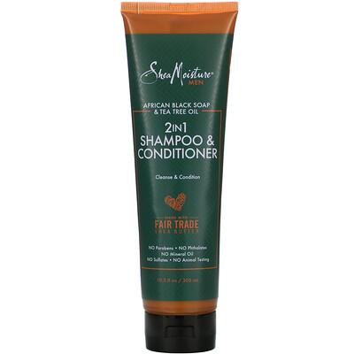 Купить SheaMoisture Men, 2-in 1 Shampoo & Conditioner, 10.3 fl oz (305 ml)