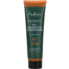 SheaMoisture, 男士,2 合 1 洗髮水 + 護髮素,10.3 液量盎司(305 毫升)