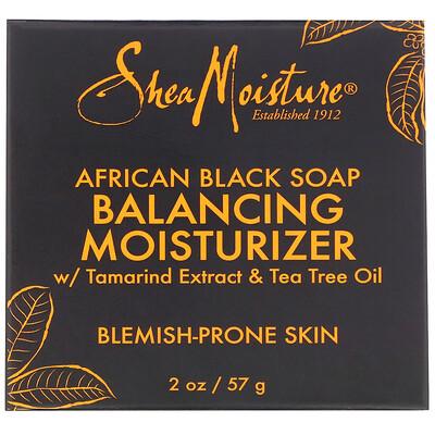 Купить SheaMoisture Африканское черное мыло, увлажняющий крем для поддержания баланса, 57г (2унции)