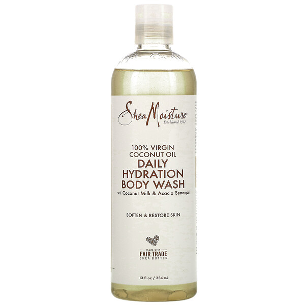 100% Virgin Coconut Oil, Daily Hydration Body Wash, 13 fl oz (384 ml)