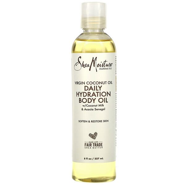 100 % Virgin Coconut Oil, Daily Hydration Body Oil, 8 fl oz (237 ml)