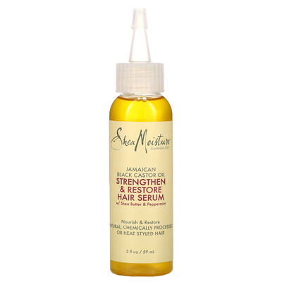 Купить SheaMoisture Jamaican Black Castor Oil, Strengthen & Restore Hair Serum, 2 fl oz (59 ml)