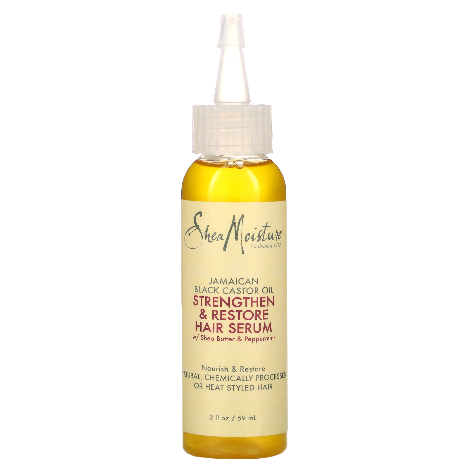 Sheamoisture Jamaican Black Castor Oil Strengthen Restore Hair Serum 2 Fl Oz 59 Ml Iherb