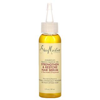 SheaMoisture, ямайское черное касторовое масло, укрепляющая и восстанавливающая сыворотка для волос, 59мл (2жидк.унции)