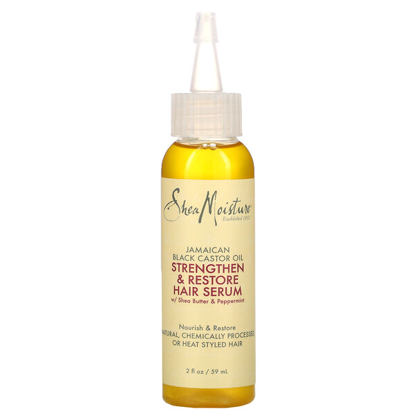 SheaMoisture, Jamaican Black Castor Oil, Strengthen & Restore Hair Serum,  2 fl oz (59 ml)