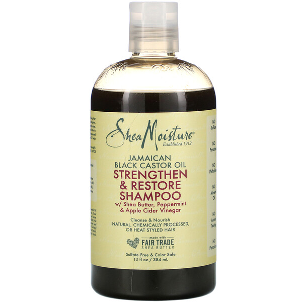 Jamaican Black Castor Oil, Strengthen & Restore Shampoo,  13 fl oz (384 ml)