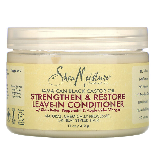 SheaMoisture, Jamaican Black Castor Oil, Strengthen & Restore Leave-In Conditioner, 11 oz (312 g)