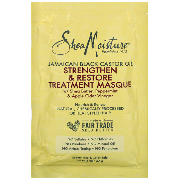 Jamaican Black Castor Oil, Strengthen & Restore Treatment Masque, 2 oz (57 ml)