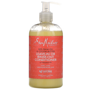 SheaMoisture, Après-shampooing avec ou sans rinçage, Huile de palme rouge et beurre de cacao, 384ml