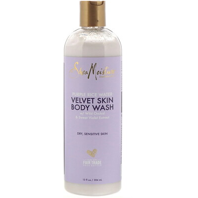 Купить SheaMoisture Purple Rice Water, Velvet Skin Body Wash, 13 fl oz (384 ml)
