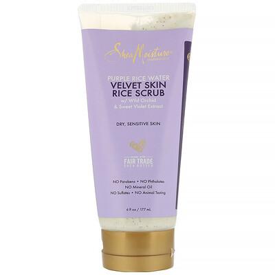 SheaMoisture Purple Rice Water, Velvet Skin Rice Scrub, 6 fl oz (177 ml)