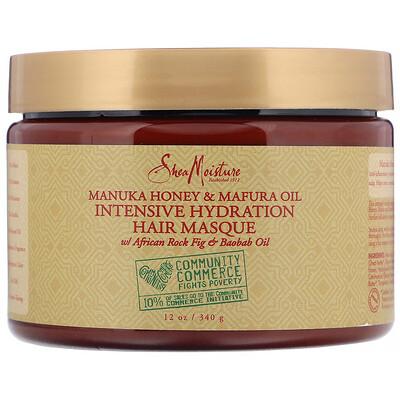SheaMoisture Manuka Honey & Mafura Oil, Intensive Hydration Hair Masque, 12 oz (340 g)