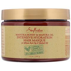SheaMoisture, 優效保濕面膜,麥盧卡蜂蜜和黑醋精油,12 盎司(340 克)