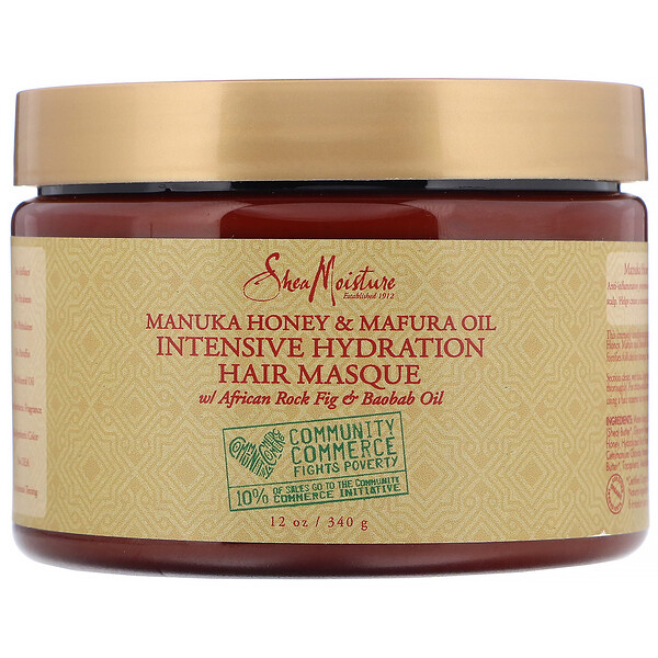 SheaMoisture, Manuka Honey & Mafura Oil, Intensive Hydration Hair Masque, 12 oz (340 g)