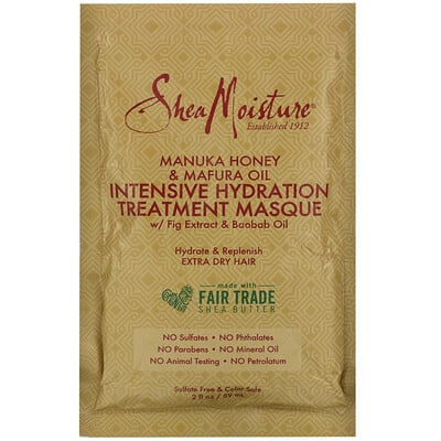 SheaMoisture Manuka Honey & Mafura Oil Intensive Hydration Treatment Masque, 2 fl oz (59 ml)