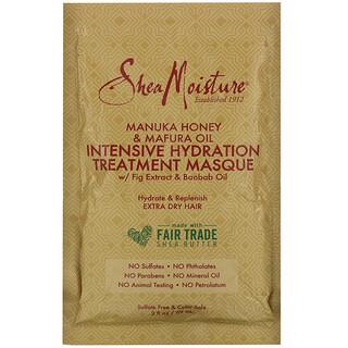 SheaMoisture, قناع الترطيب المكثف العلاجي المعزز بعسل المانوكا وزيت المافورا، 2 أونصة سائلة (59 مل)