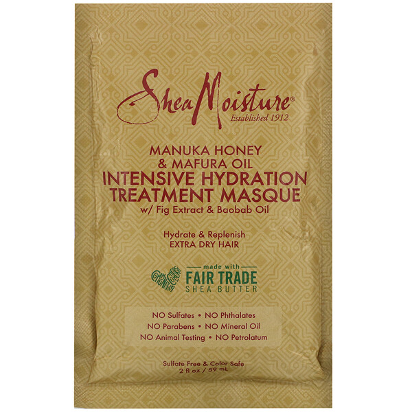 Manuka Honey & Mafura Oil Intensive Hydration Treatment Masque, 2 fl oz (59 ml)