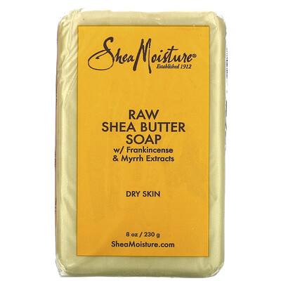 Купить SheaMoisture Raw Shea Butter Soap with Frankincense & Myrrh Extracts, 8 oz (230 g)