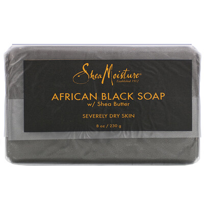 Купить SheaMoisture African Black Soap with Shea Butter, 8 oz (230 g)