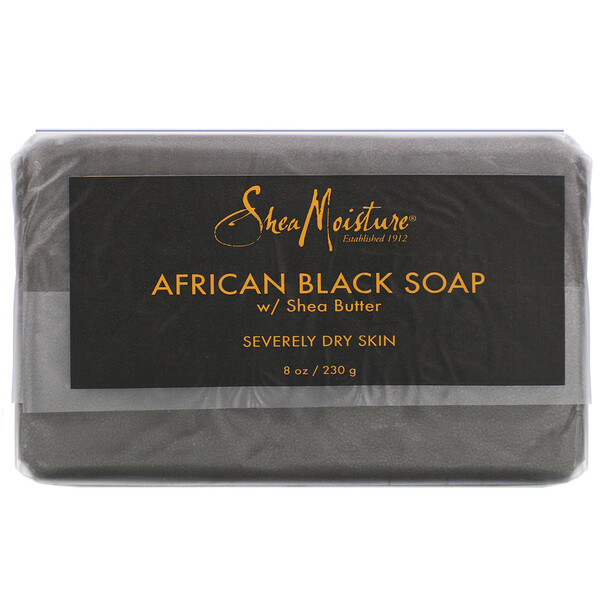 African Black Soap with Shea Butter, 8 oz (230 g)