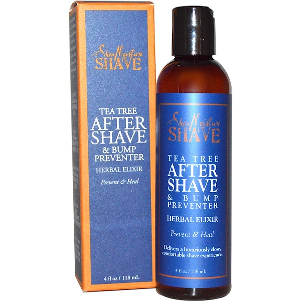 SheaMoisture, After Shave & Bump Preventer, Tea Tree, 4 fl oz (118 ml) (Discontinued Item)