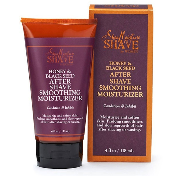 SheaMoisture, Shave for Women, After Shave Smoothing Moisturizer, Honey & Black Seed, 4 fl oz (118 ml) (Discontinued Item)
